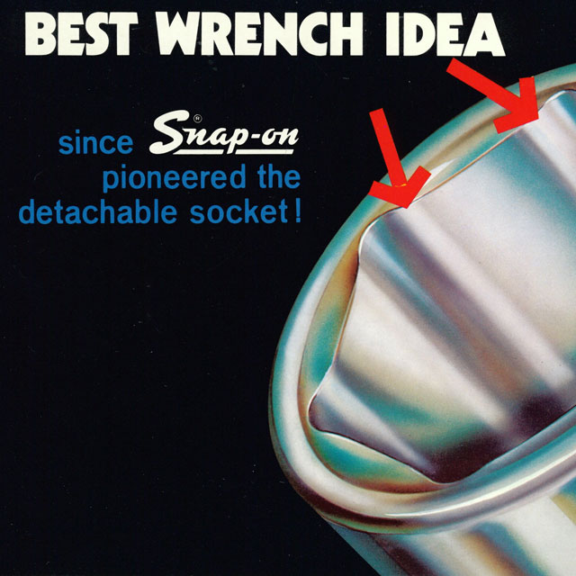 Snap-on poster with slogan: Best Wrench Idea…since Snap-on pioneered the detachable socket!