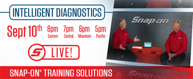 September 10 Livestream Training - Intelligent Diagnostics