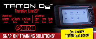 June 20, 2019 TRITON-D8 Livestream Training