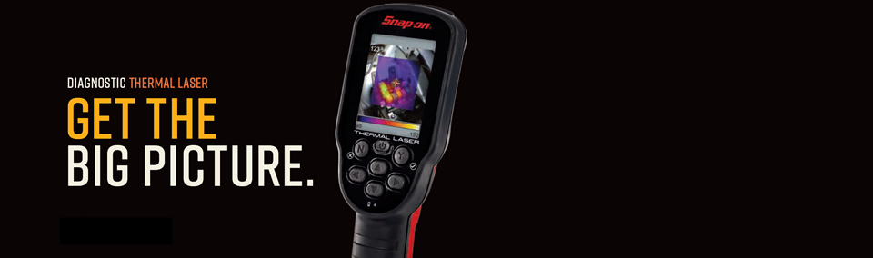 The new Snap-on Diagnostic Thermal Laser uses both laser and thermal components.