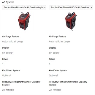 Are you interested in buying a Sun air conditioning machine and keen to know more about how our units compare against each other? Just use this quick system to see their specifications side-by-side.