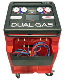 The Sun KoolKare Dual Gas from Snap-on is a fully automatic and tapless unit which is able to service both R134A and HFO1234yf refrigerants.