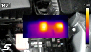 Snap-on Diagnostic Thermal Imager Elite - Picture-in-picture view