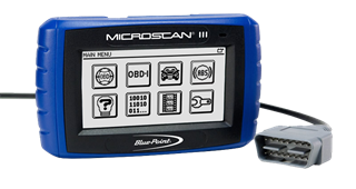 The quick-read and clear tool for any technician. MICROSCAN III reads codes, clears codes, displays live data and resets the Malfunction Indicator Lamp in only seconds.