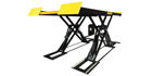 The Sun SSL 6350 car scissor lift allows for one-person MOT testing.