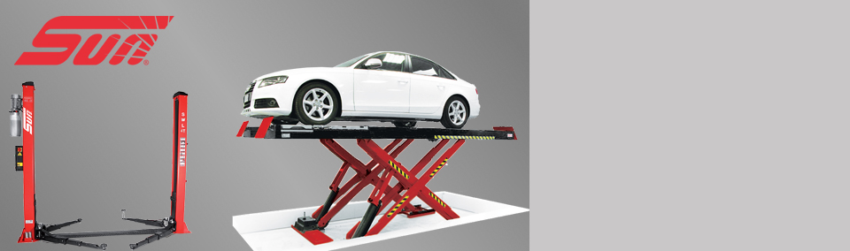 Extend your workshop's reach with the range of Sun vehicle lifts.