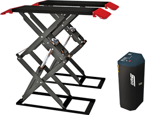 The Sun SSL 3000 is a double scissor (full height) short sill car lift designed for surface-mounted installation, with a a 3000KG lifting capacity.