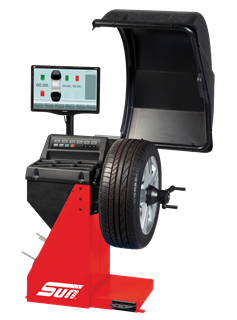 The Sun SWB200S is a video wheel balancer for cars, light trucks and motorcycles.