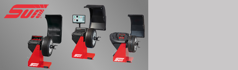 Explore the range of wheel balancers from Sun.