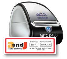 Oil Change Sticker Printer >> Propack